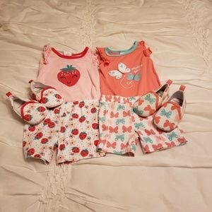 Two Cutie Pie Baby Girl Outfits.
